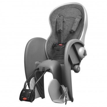 Wallaby Evolution Deluxe - Child Bicycle Seat for Frames Dark Grey