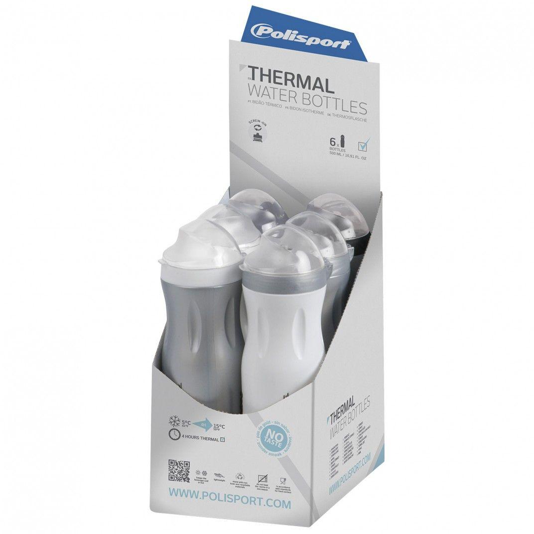 Hot & Cold - Wasserflasche Thermal Grau