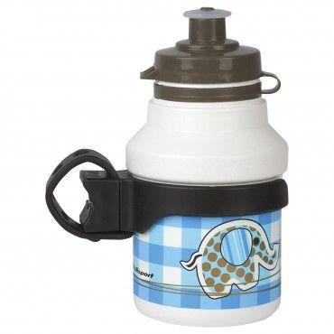 Bundle Kit - Suporte de Bidon + Bidon para Crianças Azul e Branco