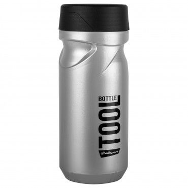 Tool Bottle Silver and Black