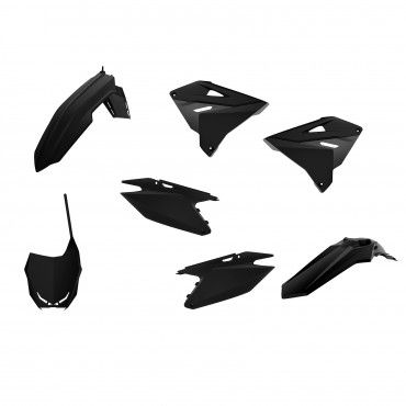 Suzuki RM125,250 - MX Restyling Kit Black - 2001-08 Models