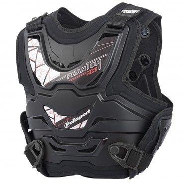 Phantom Mini - Protector de Peto Negro para Niños