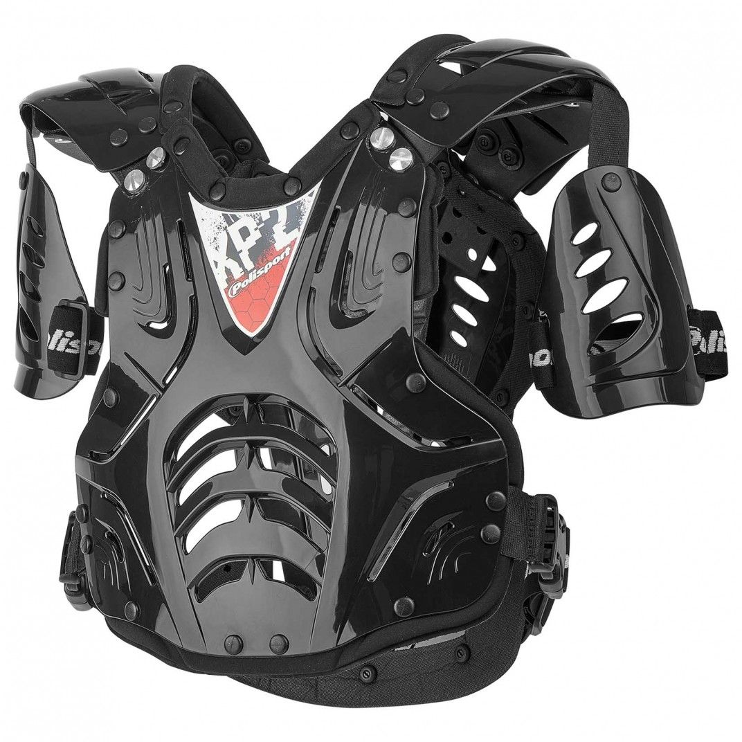 XP2 - Chest Protector Clear and Black for Junior