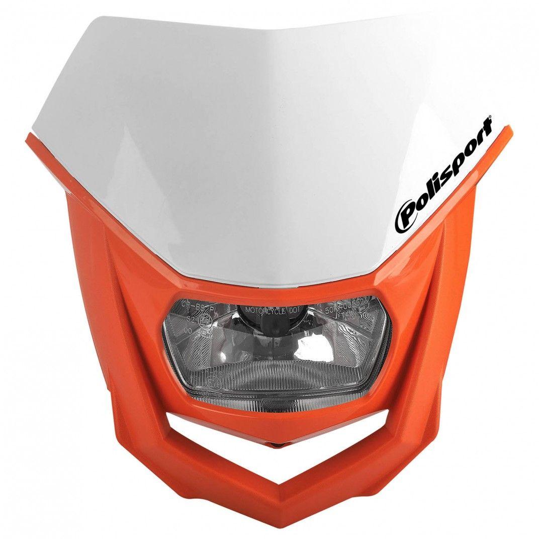 Halo - Mascherina Portafaro Bianco e Arancione