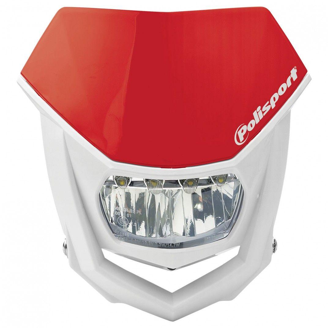 Porta-Farol Halo Led Vermelho e Branco
