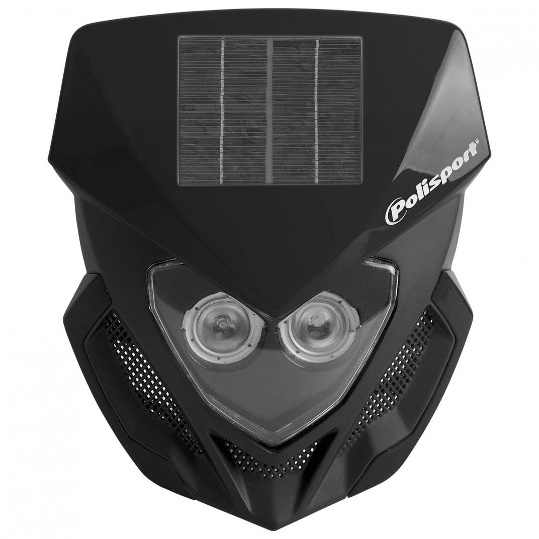 Lookos - Headlight Black with Solar Panel and Battery