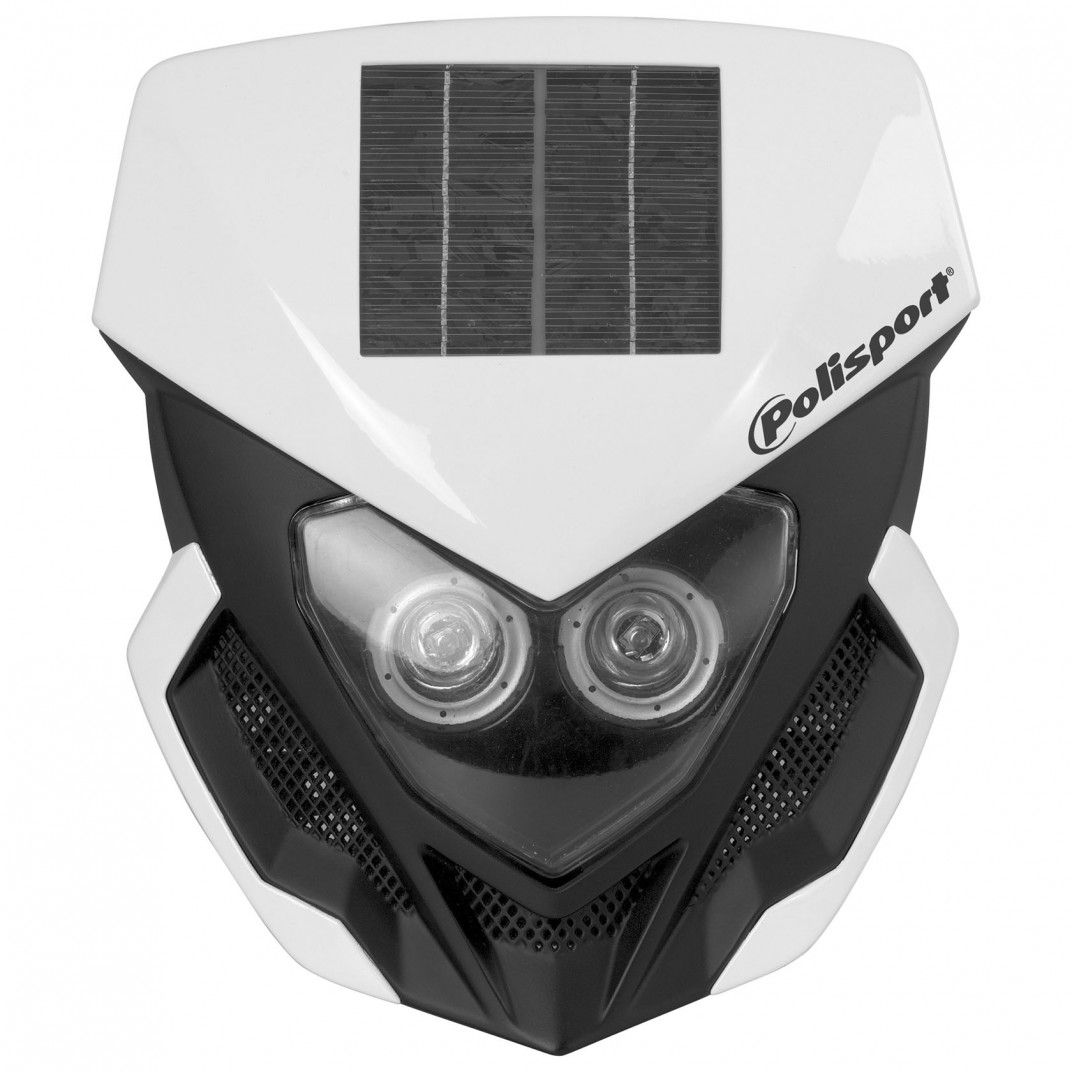 Lookos - Headlight White with Solar Panel and Battery