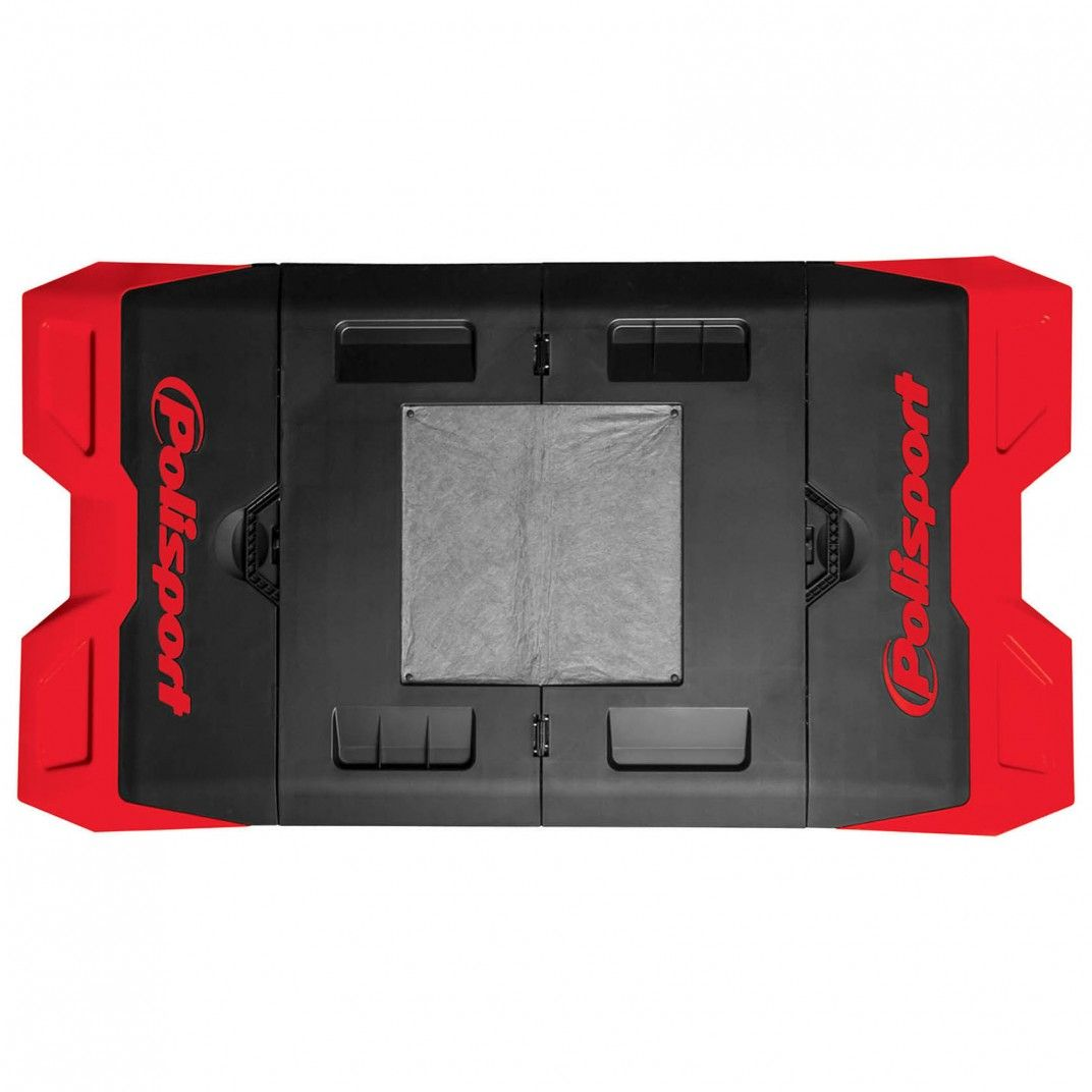 Bike Mat - Foldable Pit Plastic Mat Red