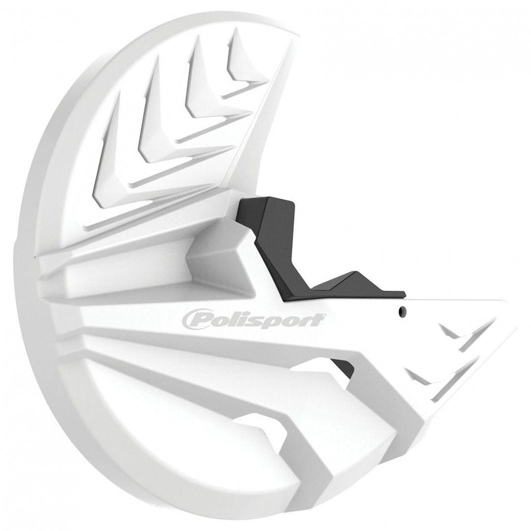 Honda CRF 250R/450R - Protector Disco Delantero y Pie de Horquilla Blanco - Modelos 2010-14