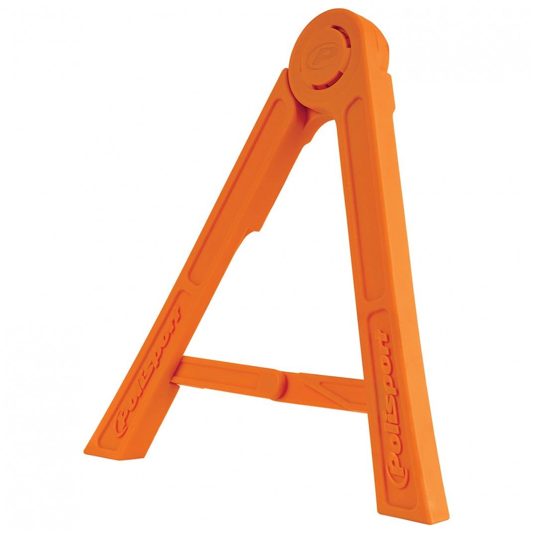 Tripod - Foldable pit side stand Orange