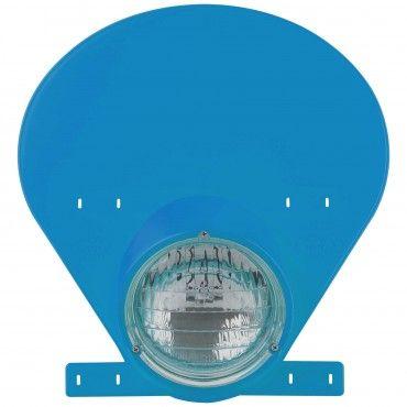 Porta-Farol com Lâmpada de Halogénio Azul