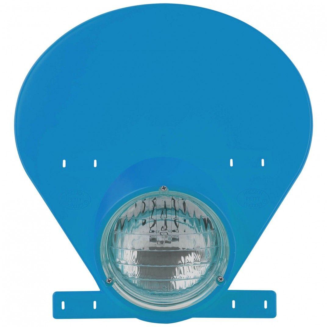 Headlight with Halogen Bulb Bultaco Blue