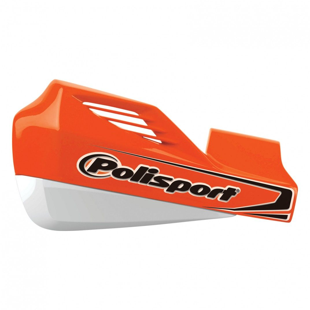 MX Rocks - Universal Orange/White Handguard - MX and Enduro
