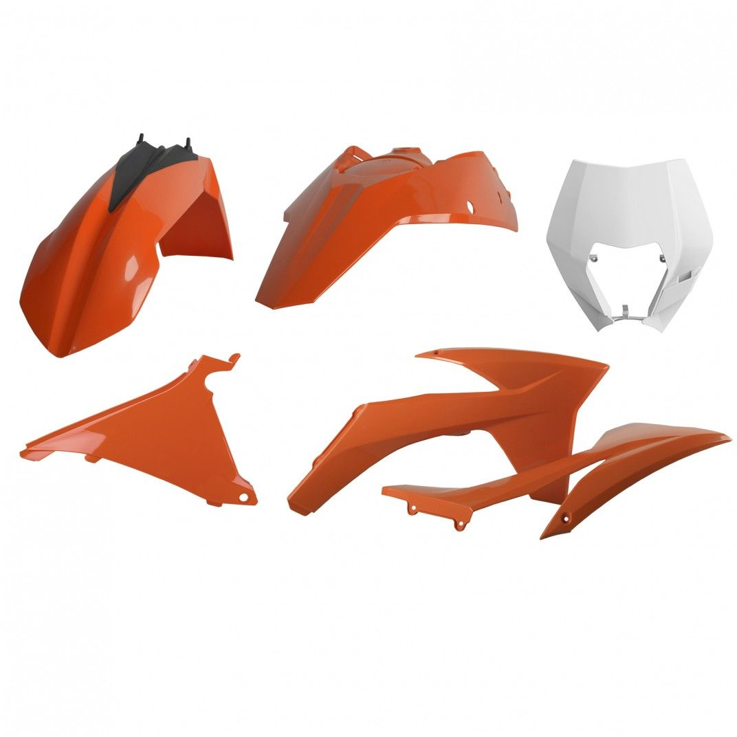 KTM EXC,EXC-F XC-W,XCF-W - Kit de Plásticos para Enduro Cor OEM - Modelos 2012-13