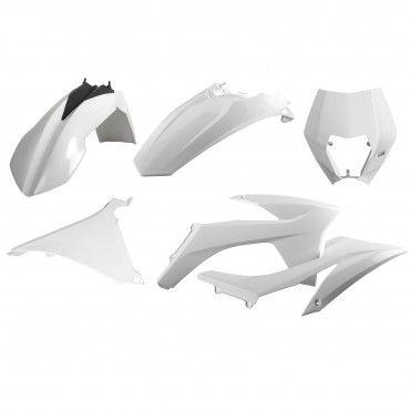 KTM EXC,EXC-F XC-W,XCF-W - Enduro Plastic Kit White - 2012-13 Models