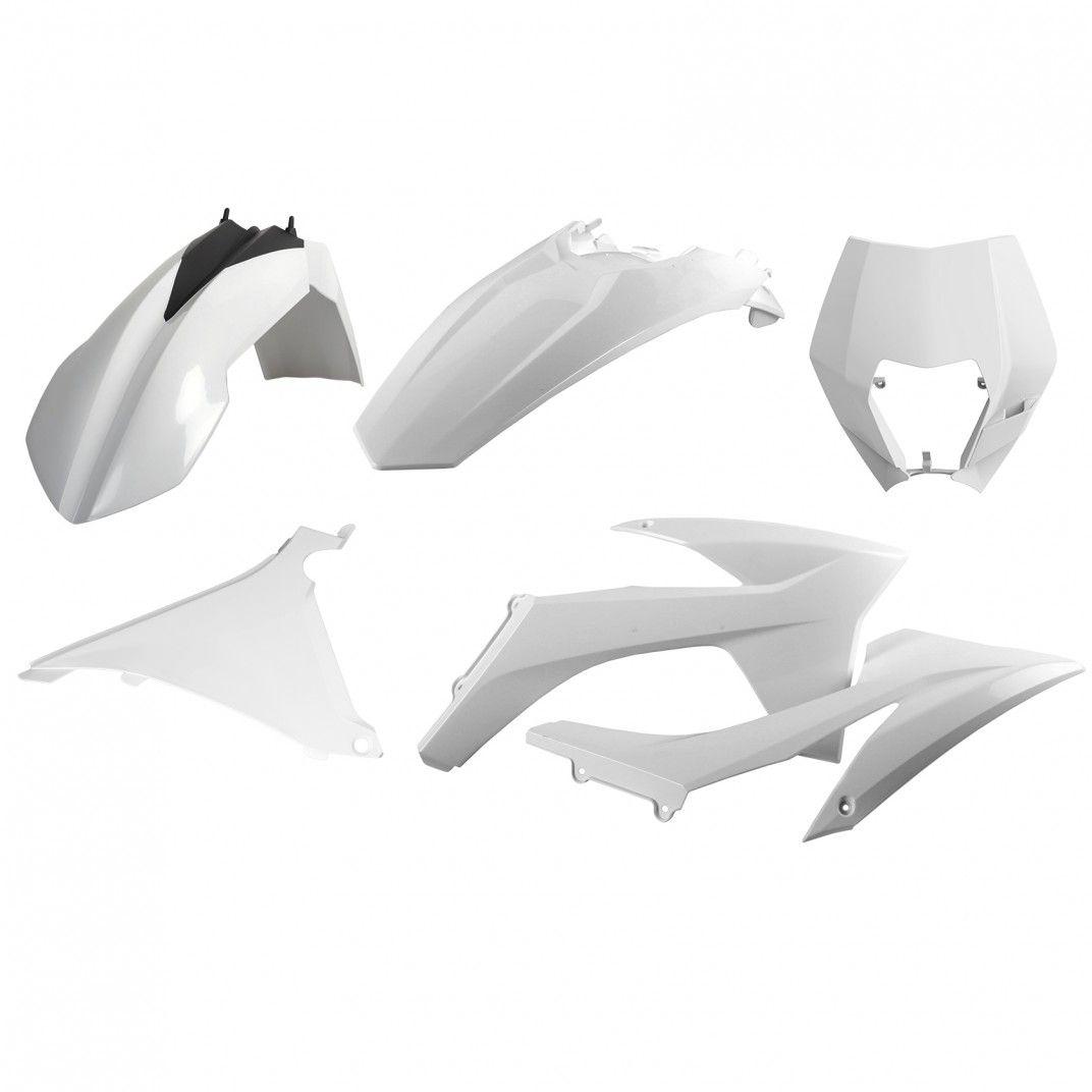 KTM EXC,EXC-F XC-W,XCF-W - Kit de Plásticos para Enduro Branco - Modelos 2012-13
