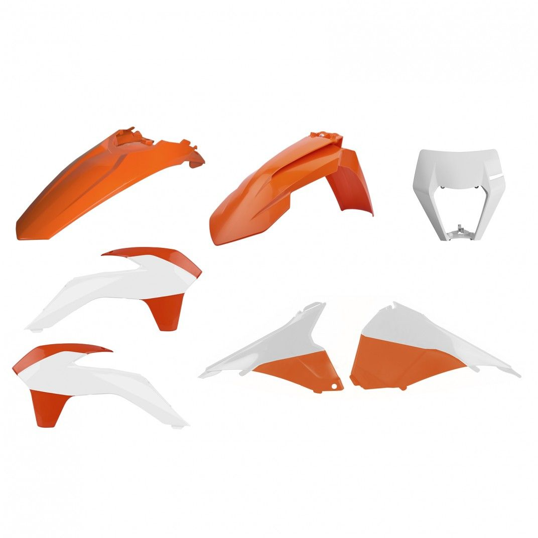 KTM EXC,EXC-F,XC-W,XCF-W - Kit Plastiche Restyling Colore OEM - Modelli 2014-16