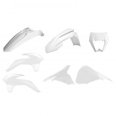 KTM EXC,EXC-F,XC-W,XCF-W - Kit de Plásticos Restyling Branco - Modelos 2014-16