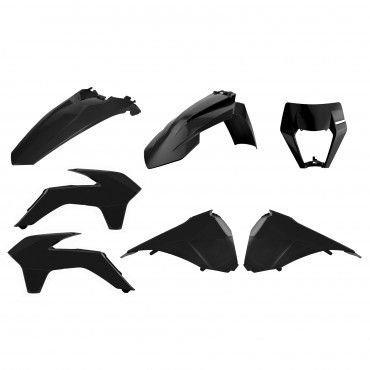 KTM EXC,EXC-F,XC-W,XCF-W - Enduro Restyling Kit Black - 2014-16 Models