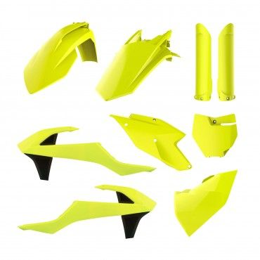 KTM SX,SX-F XC,XC-F - Replica Plastic Kit Flo Yellow - 2016-18 Models