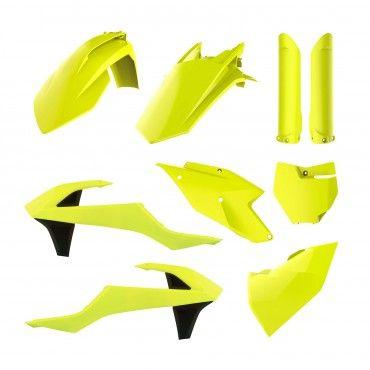KTM SX,SX-F XC,XC-F - Kit de Plástica Amarillo Fluo - Modelos 2016-18