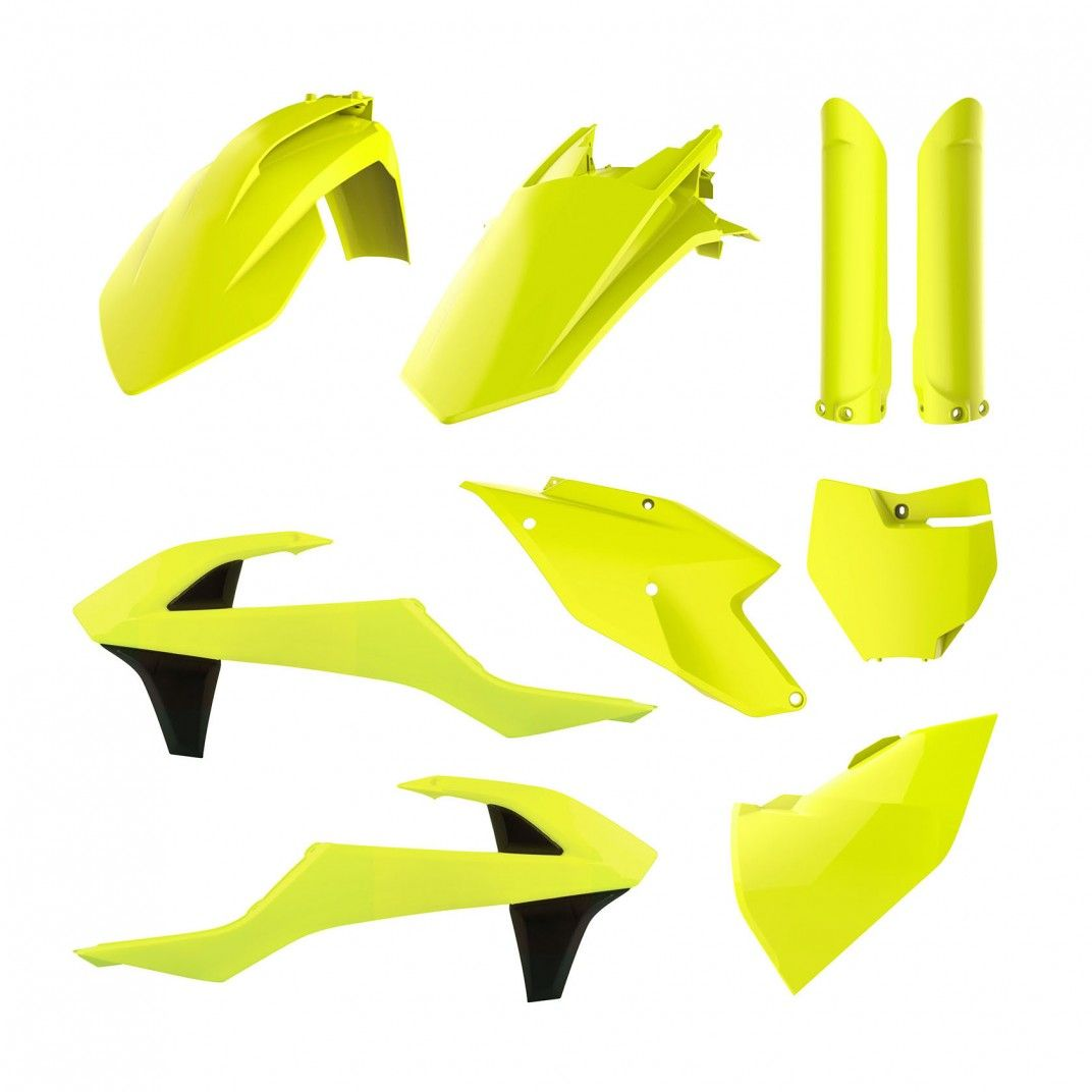 KTM SX,SX-F XC,XC-F - Replica Kunststoff-Kit Gelb Fluo - Modelos 2016-18