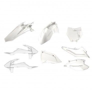 KTM SX,SX-F XC,XC-F - Kit Plastiche Replica Transparente - Modelli 2016-18