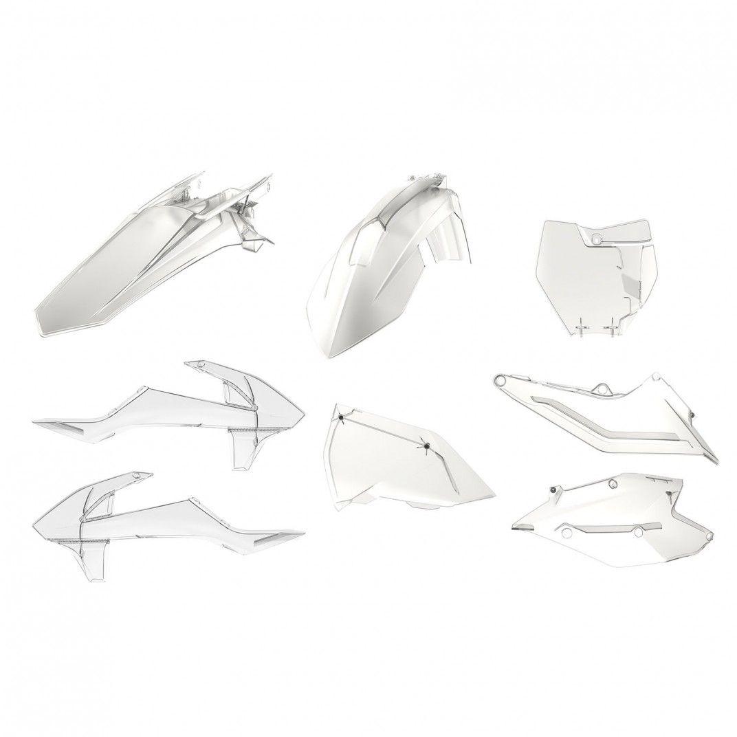 KTM SX,SX-F XC,XC-F - Replica Kunststoff-Kit Transparent - Modelos 2016-18