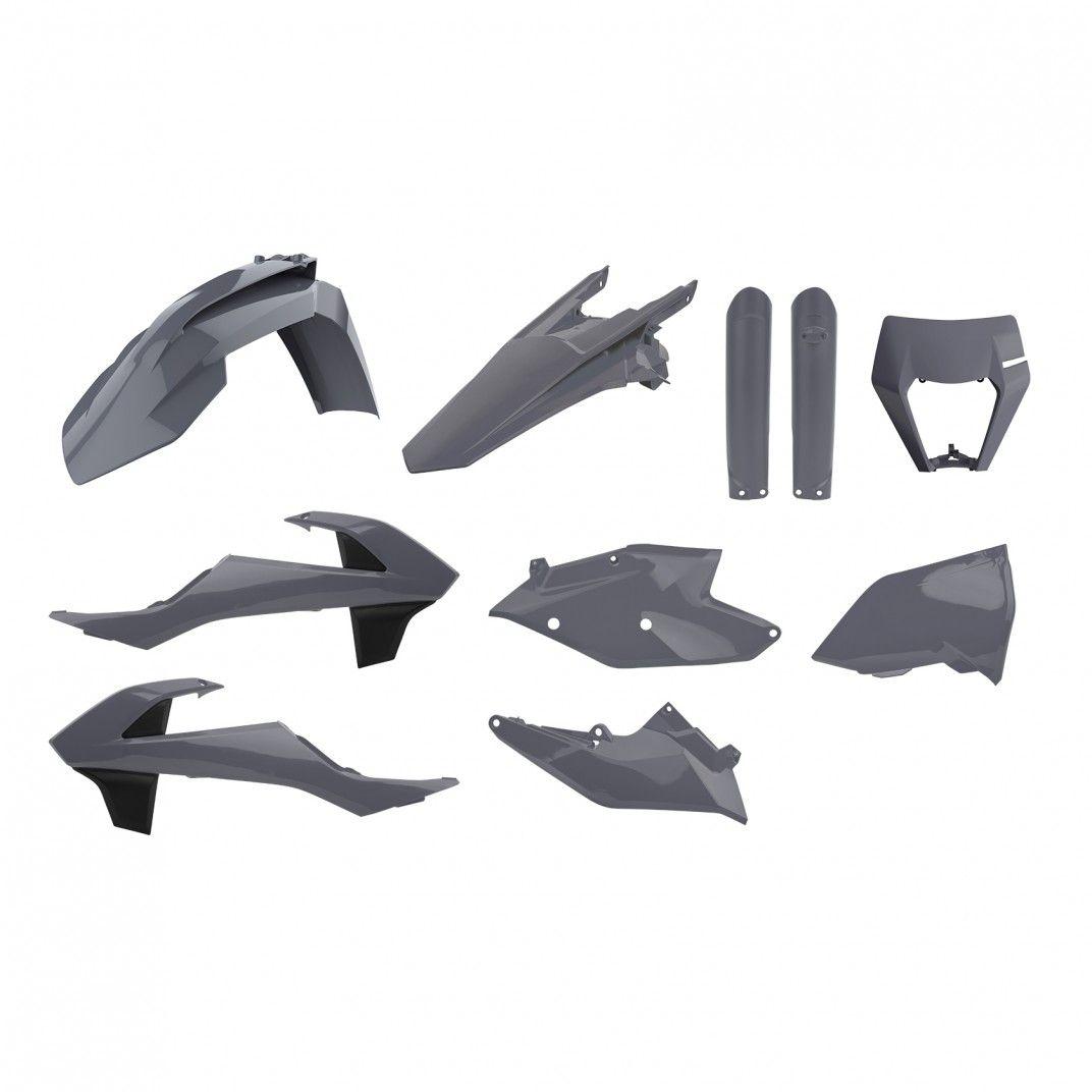 KTM EXC,EXC-F,XC-W,XCF-W - Replica Plastic Kit Nardo Grey - 2017-19 Models