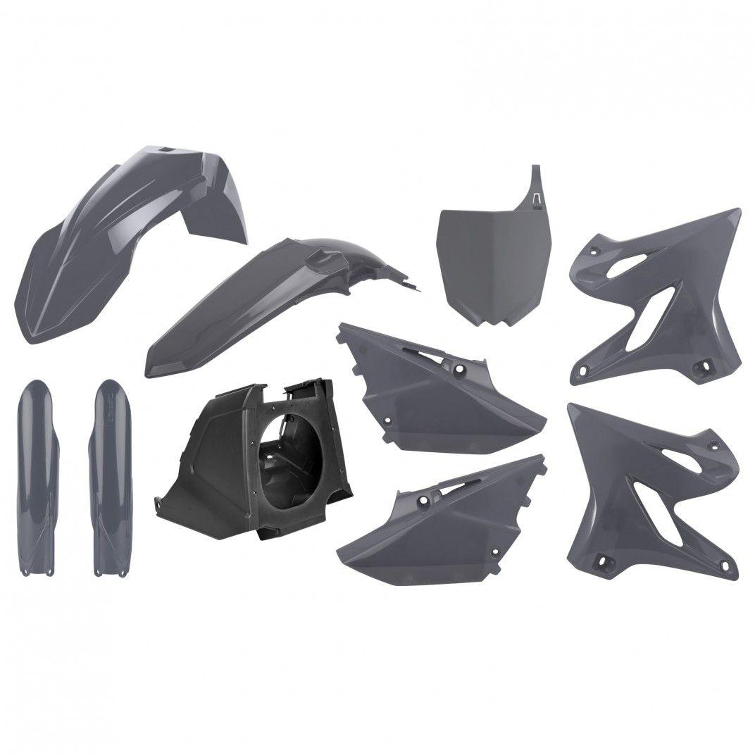 Yamaha YZ125,YZ250 Restyling -  Plastic Kit Nardo Grey - 2002-20 Models