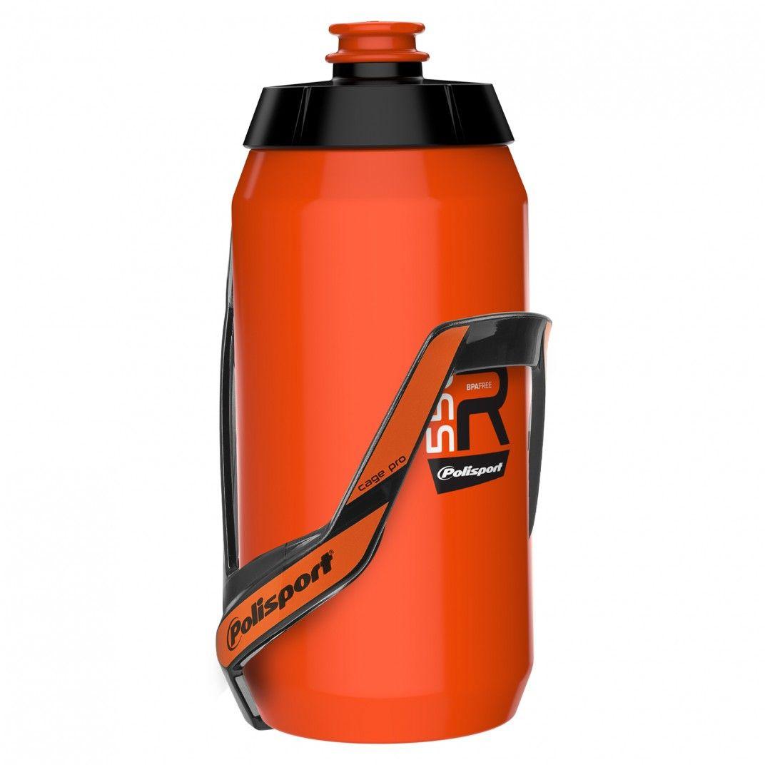 Bundle Kit: Porte-Bidon + Bidon 550ml Orange