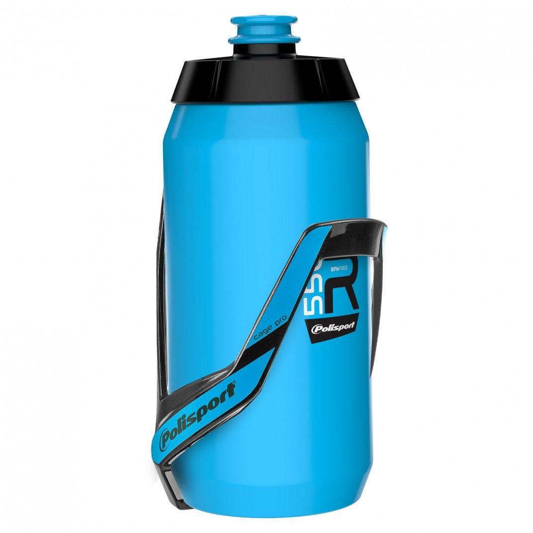Bundle Kit: Porte-Bidon + Bidon 550ml Bleu