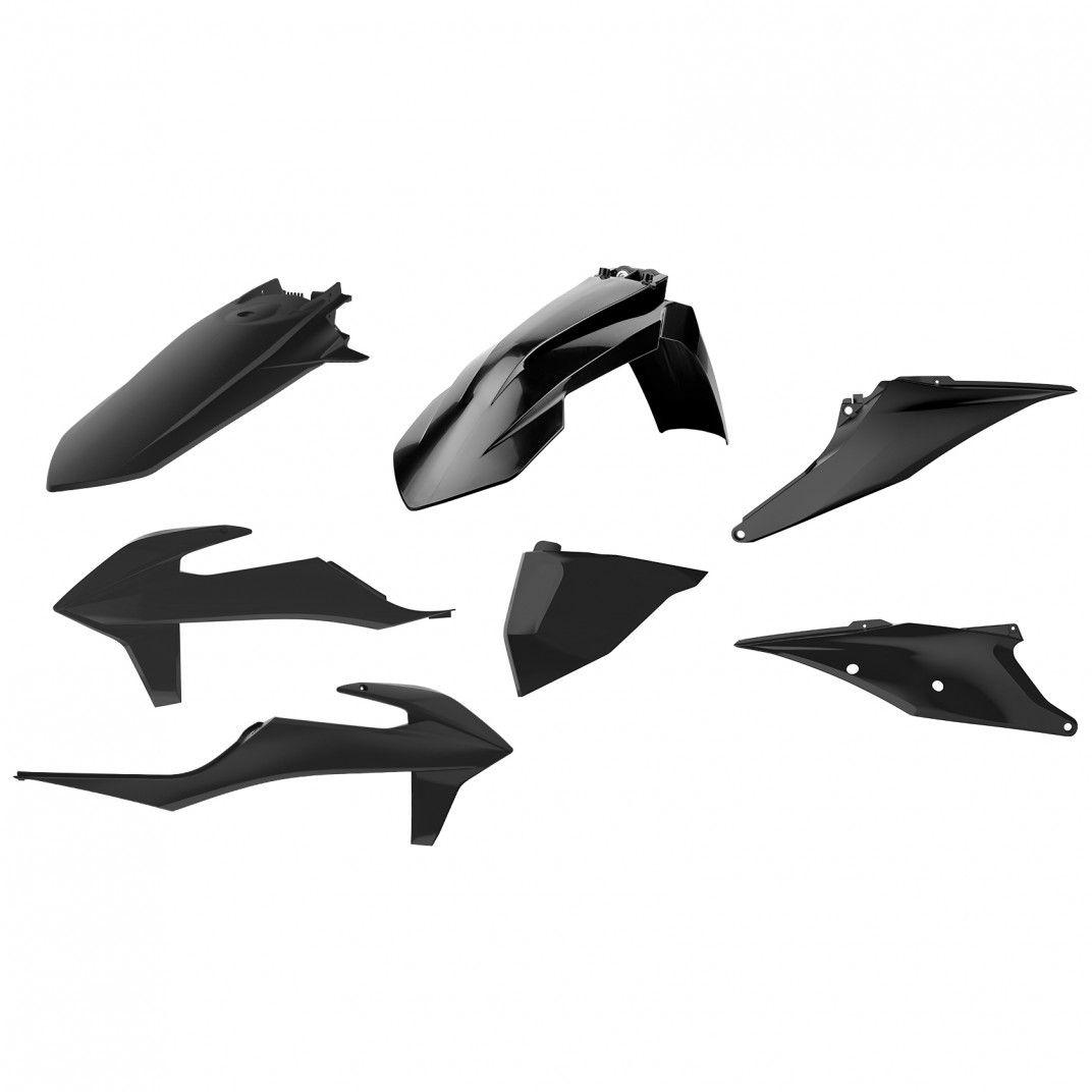 KTM EXC,EXC-F XC-W,XCF-W - Kit de Plásticas para Enduro Negro - Modelos 2020