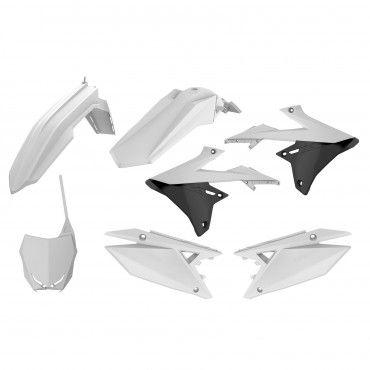 Suzuki RMZ 250 - MX Plastic Kit White - 2019-20 Models