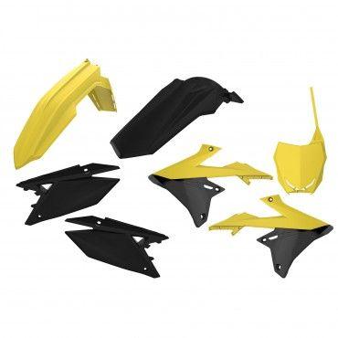 Suzuki RMZ 250 - MX Plastic Kit Yellow RM01,Black - 2019-20 Models