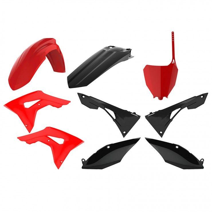 Polisport Verkleidungskit rot//schwarz 90833 für CRF250R CRF450R
