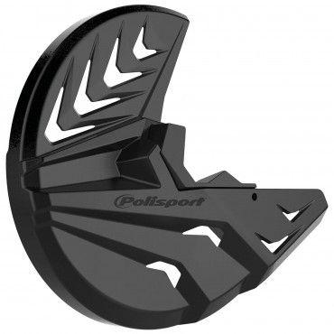KTM EXC,EXC-F,XC-W,XCF-W - Protector Disco Delantero y Pie de Horquilla Negro - Modelos 2008-15