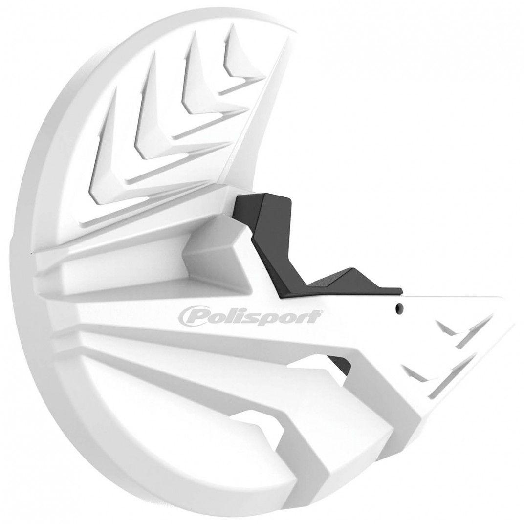 KTM SX,SX-F,XC,XC-F - Protector Disco Delantero y Pie de Horquilla Blanco - Modelos 2007-14