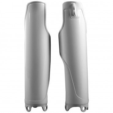 Honda CRF250R,CRF450R - Fork Guards White - 2004-18 Models