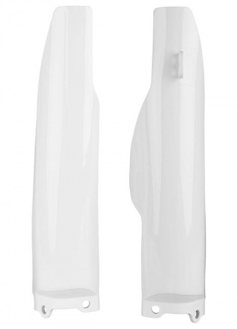 Kawasaki KX125,KX250 - Fork Guards White - 2004-08 Models