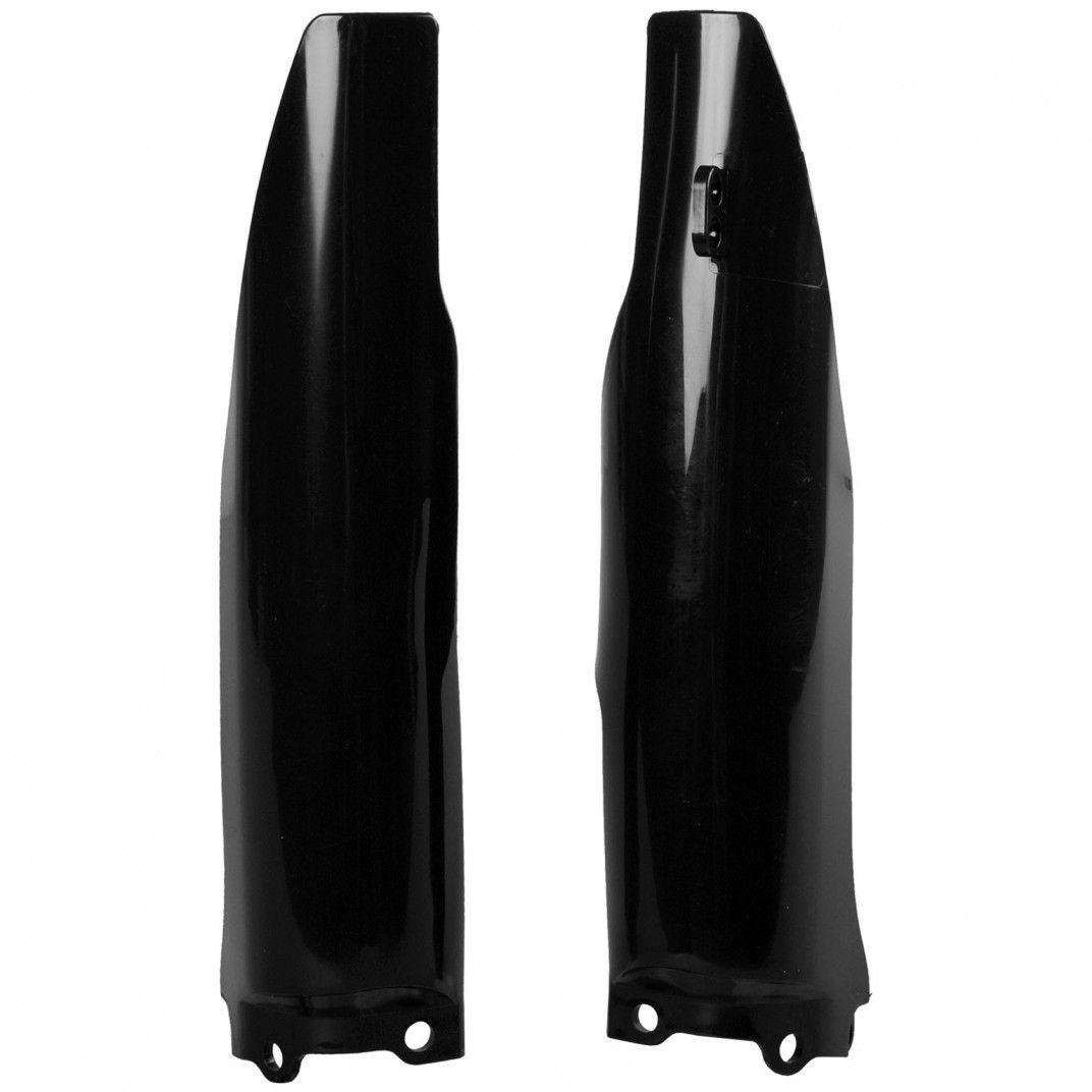 Kawasaki KX125,KX250 - Fork Guards Black - 2004-08 Models