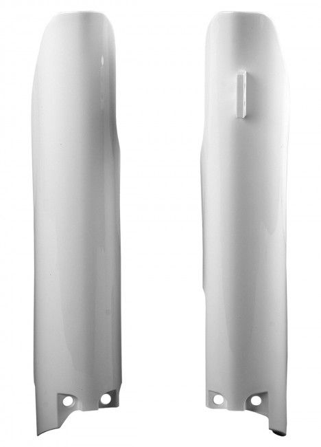 Suzuki RM125, RM250 - Fork Guards White - 2007-08 Models