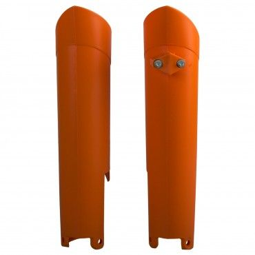 KTM EXC,EXC-F,XC-W,XCF-W - Fork Guards Orange - 2008-15 Models
