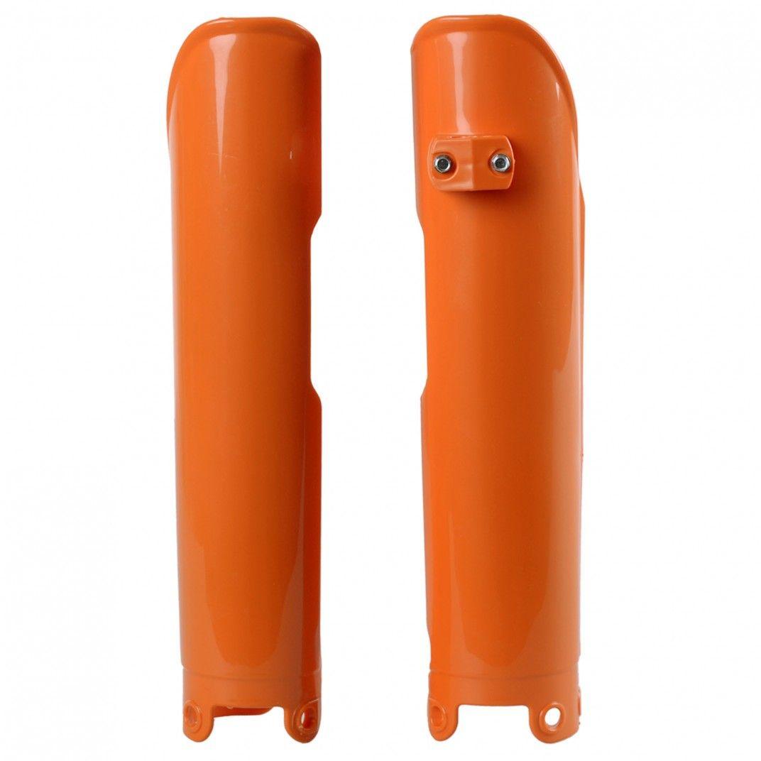 KTM SX,EXC - Fork Guards Orange - 2003-07 Models