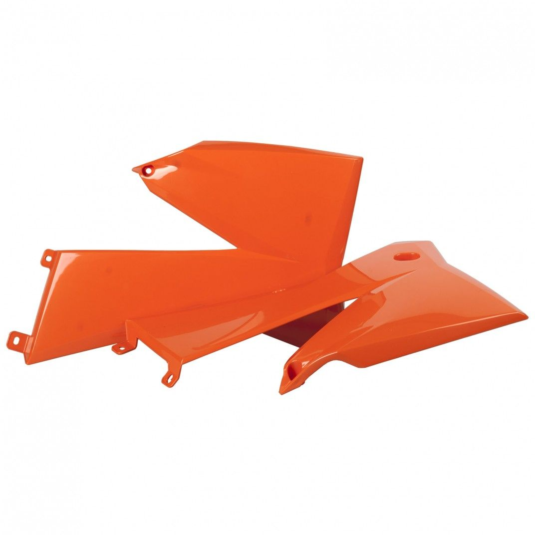 KTM EXC-F,XC,XC-W,XCF-W - Radiator Scoops Orange - 2006-07 Models