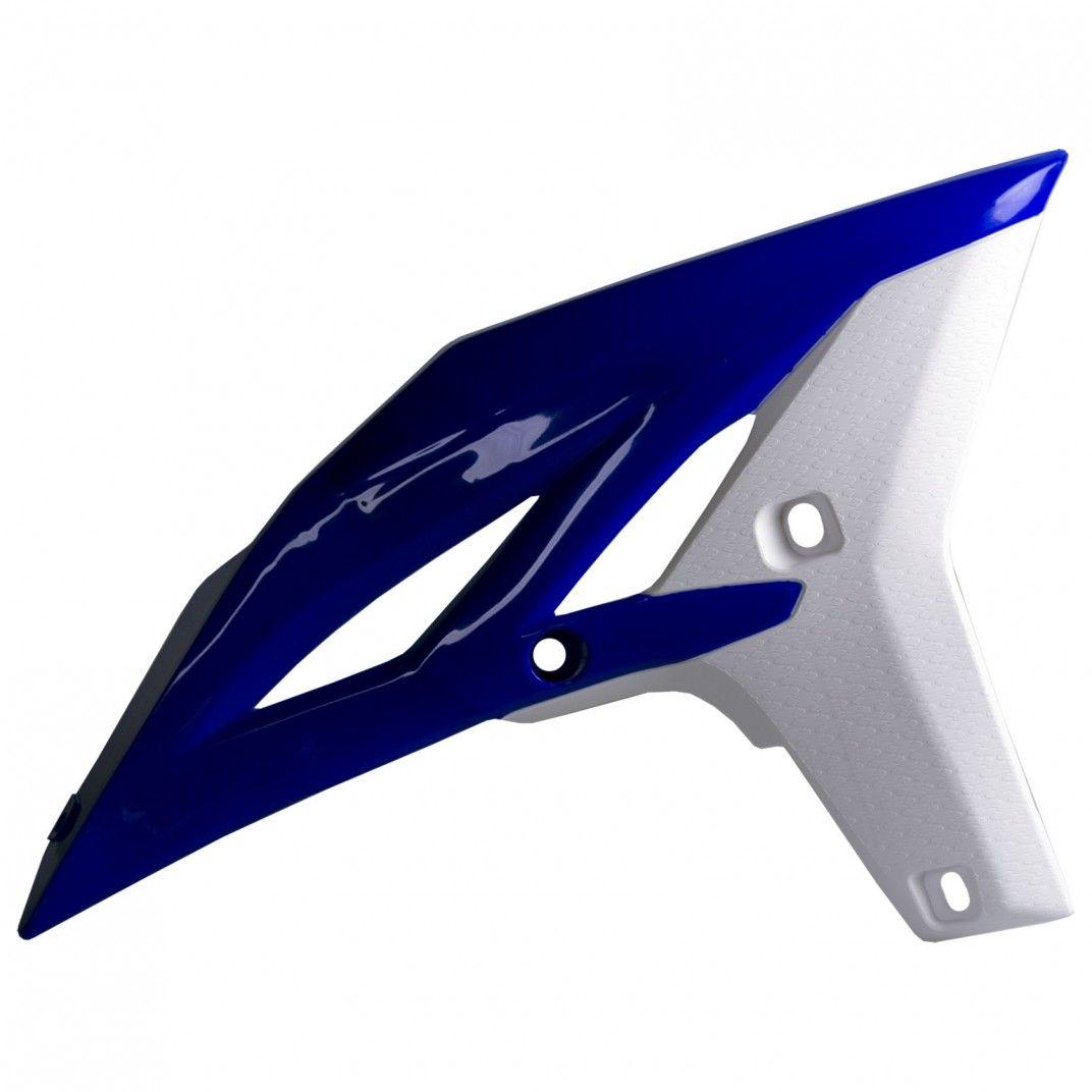 Yamaha YZ250F - Radiator Scoops Blue/White - 2010-13 Models