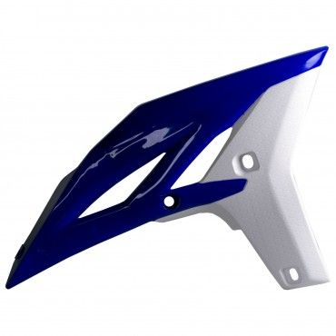 Yamaha YZ250F - Radiator Scoops Blue/White - 2010-13 Models