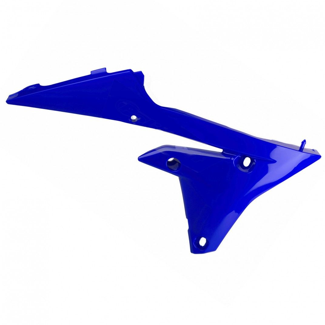 Yamaha YZ450FX, WR450F- Radiator Scoops Blue/White - 2016-18 Models