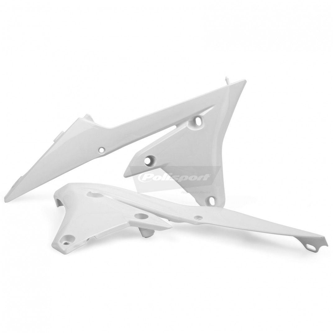 Yamaha YZ450FX, WR450F- Radiator Scoops White - 2016-18 Models