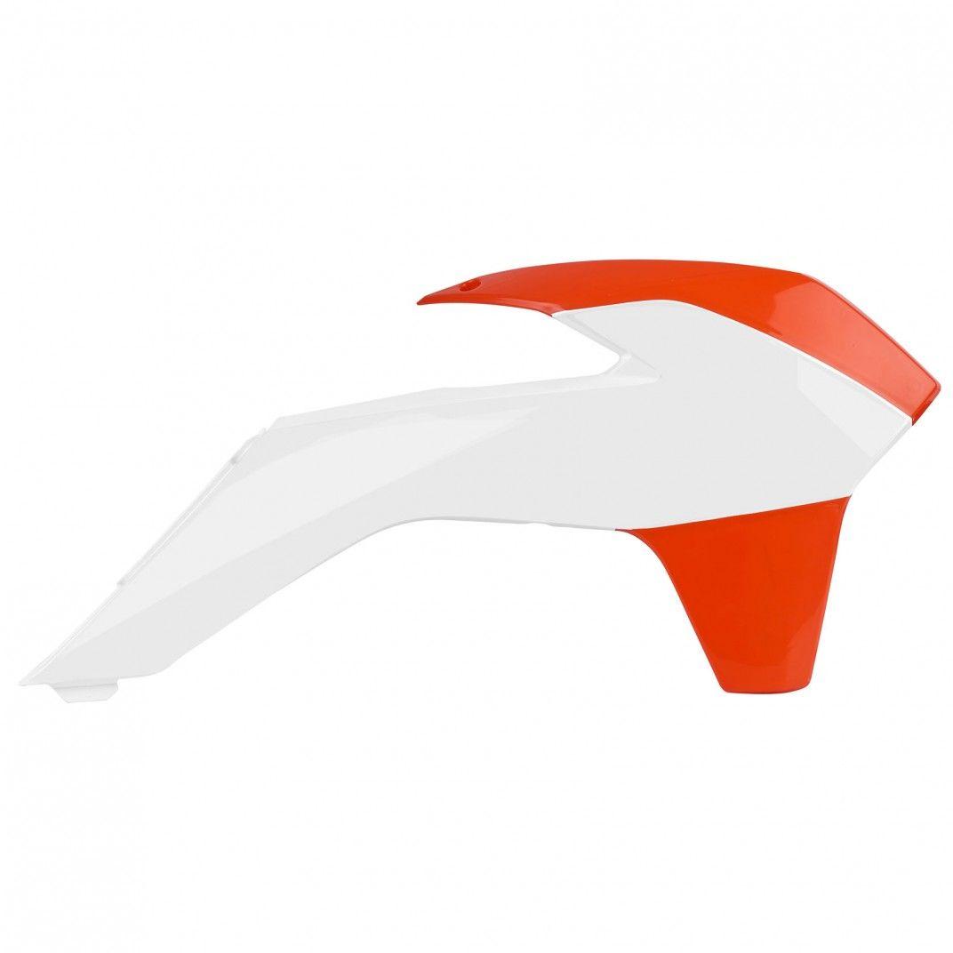 KTM 250 SX,250 XC,300 XC - Kühlerverkleidungen Paar Orange,Weiß - Modelles 2013-16